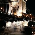 Chain Bridge At Night by Mariola Bitner