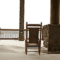 Chair On A Snowy Balcony by Will and Deni McIntyre