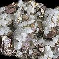 Chalcopyrite And Quartz Crystals by Dirk Wiersma