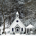 Chapel In The Snow - D007592 by Daniel Dempster