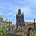 Charles Bridge And Church Dome by Jon Berghoff
