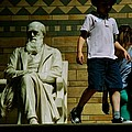 Charles Darwin At The British Museum by Eric Tressler