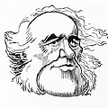 Charles Lyell, Caricature by Gary Brown