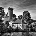 Chateau On The Lake At Annecy by Ann Garrett