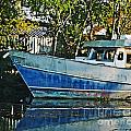 Chauvin La Blue Bayou Boat by Lizi Beard-Ward