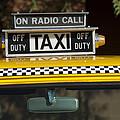Checker Taxi Cab Duty Sign 2 by Jill Reger