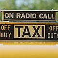 Checker Taxi Cab Duty Sign by Jill Reger