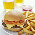 Cheeseburger And Chips by David Munns