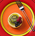 Cheesecake On Plate by Garry Gay