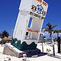 Chen Rio Beach Bar Sign Cozumel Mexico by Shawn O'Brien