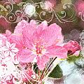 Cherry Blossom Art With Decorations by Debbie Portwood