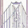 Chesapeake Bridge Between The Lines by Rrrose Pix