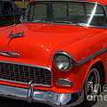 Chevrolet Bel-air Stationwagon . Orange . 7d15268 by Wingsdomain Art and Photography