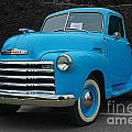 Chevy Pick-up With Bw Background by Randy Harris