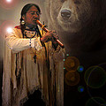 Cheyenne  Flute  Musician by Nancy Griswold
