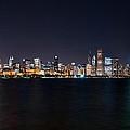 Chicago At Night by Mark Whitt