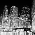 Chicago At Night by Paul Velgos