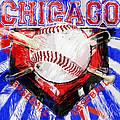 Chicago Baseball Abstract by David G Paul