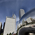 Chicago Cityscape The Bean by Mark Duffy