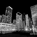 Chicago Downtown At Night  by Paul Velgos