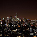 Chicago Glowing At Night by Christopher Purcell