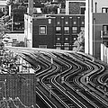 Chicago L Tracks by Bruce Bley