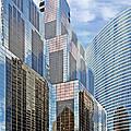 Chicago - One South Wacker And Hyatt Center by Christine Till