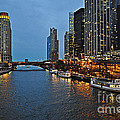 Chicago River At Twilight by Mary Machare