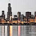 Chicago Skyline At Dusk Photo by Paul Velgos