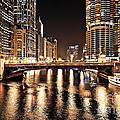 Chicago Skyline At State Street Bridge by Paul Velgos