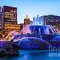 Chicago Skyline Buckingham Fountain High Resolution by Paul Velgos