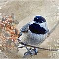 Chickadee Breakfast With Decorations by Debbie Portwood