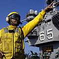 Chief Aviation Boatswains Mate Directs by Stocktrek Images