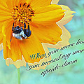 Child Birthday Greeting From Parent Parents - Cosmos And Bumblebee by Mother Nature