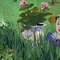 Child In The Flowers by Edouard Manet
