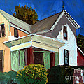 Childhood Home Plein Air by Charlie Spear