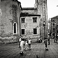 Children At Play In A Venice Piazza by Madeline Ellis