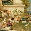 Children Playing With Boats by William Stephen Coleman