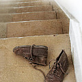 Child's Shoes By Stairs by Jill Battaglia