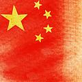 China Flag by Setsiri Silapasuwanchai
