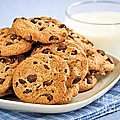Chocolate Chip Cookies And Milk by Elena Elisseeva