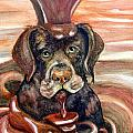 Chocolate Lab by Leslie Hoops-Wallace