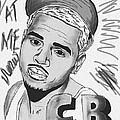 Chris Brown Cb Drawing by Kenal Louis