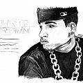 Chris Brown Drawing by Kenal Louis