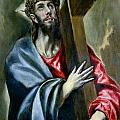Christ Clasping The Cross by El Greco