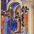 Christ Exorcising A Demon From A Possessed Youth: Illumination From The 15th Century Ms. Of The Tres Riches Heures Of Jean, Duke Of Berry by Granger