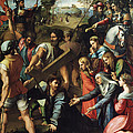 Christ Falls On The Way To Calvary by Raphael