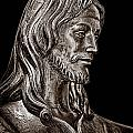 Christ In Bronze - Bw by Christopher Holmes