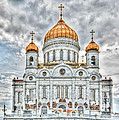 Christ The Saviour Cathedral In Moscow. The Main Entrance by Michael Goyberg