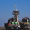Christiana Oil Tanker Sitting In Galveston Tx by Susanne Van Hulst